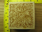Rubber Stamp Ornate Tile Medallion All Night Media Griffin Stampinsisters 1445
