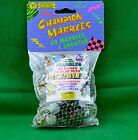 Champion Marbles Bag of 50 Variety 1 Shooter and Booklet 1992 Imperial New MIB