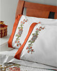 Stamped Embroidery ~ Plaid / Bucilla Waverly Charleston Chirp Pillowcases #47766