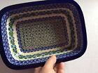 NEW C.A. POLISH POTTERY Rect. Loaf Baker Dish-Ivy Trail Pattern