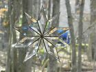 Bevelled 10 point Glass Star suncatcher Window Hanging Ornament