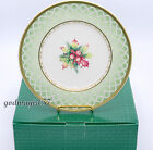 Fitz & Floyd Winter Holiday Green Wreath * 4 SALAD PLATES * Christmas  NEW/BOX!
