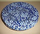 Lot of 4 Queen's China Blue Calico Chintz Dessert Plates, made in Malaysia