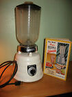 Vintage MCM White Enamel BeeHive Osterizer Blender Model 403 & Recipe Book c1952