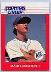 1988  MARK LANGSTON - Kenner Starting Lineup Card - SEATTLE MARINERS