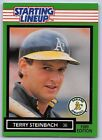 1989  TERRY STEINBACH - Kenner Starting Lineup Card - OAKLAND ATHETICS