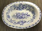 Antique Furnivals Staffordshire England Flow Blue Onion Vegetable Dish