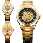 Fashion New Automatic Gold Skeleton Mechanical Watch Men Luxury Male Reloj Uhr