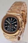 * Patek Philippe Nautilus Chronograph Watch 5980/1R 18k Rose Gold  Box/Papers