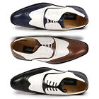 Metrocharm MC113 Mens Wing Tip Perforated Lace Up Oxford Dress Shoes