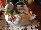 Fitz & Floyd LE CANARD Duck Shape Ceramic Teapot ~ Charming & Often Hard to Find