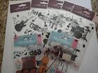 Lot of Scrapbooking Stickers Musical Instruments 6 pcs