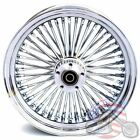 16 35 48 Fat Spoke Front Wheel Chrome Rim Dual Disc Harley Softail Touring