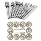 10pc Tungsten Carbide Cutting Burr Set 1 8 Steel Shank For Dremel Rotary Tool