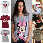Summer Womens Mickey Minnie Mouse Short Sleeve T Shirt Casual Tops Blouse Tee