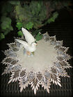 16 Doily Table Topper Scarf EARTH FEATHER LACE Neutral Earth Tone