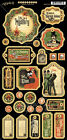 Graphic45 MASTER DETECTIVE Chipboard 27 PCS scrapbooking SHERLOCK MYSTERY