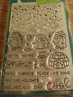 Lawn Fawn Clear Stamps  Lawn Cuts Set of 2 Scrapbooking Die Snow Cool New