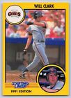 1991  WILL CLARK - Kenner Starting Lineup Card - SAN FRANCISCO GIANTS