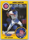 1991  ANDRE DAWSON - Kenner Starting Lineup Card - CHICAGO CUBS