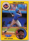 1991  VINCE COLEMAN - Kenner Starting Lineup Card - NEW YORK METS