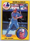1991  DELINO DeSHIELDS - Kenner Starting Lineup Card - MONTREAL EXPOS