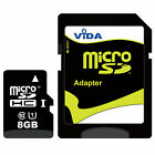 Flash Memory Card 8GB Micro SD SDHC For T Mobile Dash 3G G2 G2x Cell Smart Phone
