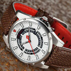 DETOMASO BUSINESS PUNK Mens Watch Stainless Steel White Dial Day