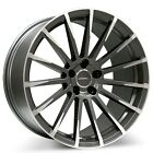 New4 set 19 Ace Alloy Wheels Devotion Matte Mica Grey with Machined Rims