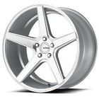 New4 set 19 KMC Wheels KM685 District Silver Machined Rims