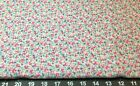 Soft Flannel Fabric bitty pink roses on white 2yds x 44 super soft 100cotton