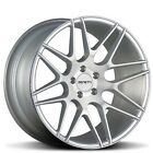 4 New 22 Staggered Zenetti Wheels Milan Silver Brushed Rims