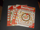 NIP Lot 2 Vintage Packages Of Decotiques Christmas Rub On Transfers Crafts