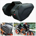 2 X Black Motorcycle Bike Pannier Bag 36 58L Luggage Saddle Bags With Rain Cover