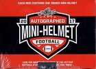 (1) FACTORY SEALED 2017 LEAF FOOTBALL AUTOGAPHED MINI HELMET BOX