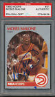 1990 91 Hoops #31 Moses Malone PSA DNA Certified Authentic Auto Autograph *9438
