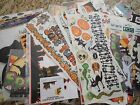 Lot of Scrapbooking Stickers Die Cuts Rub Ons Halloween and Fall 50 Plus pcs