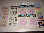 NICE ASSORTMENT OF BIRTHDAY SCRAPBOOKING CARD MARKING STICKERS  LASER DIE CUTS