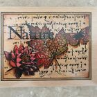 Nature Collage Rubber Stamp Leaf Flower Butterfly Lovely Design New