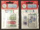 Set of Two Scrappy Cat Christmas Clear Stamps Acrylic Clear Stamp Set NEW
