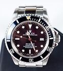 Men's ROLEX Stainless Steel Black Sea-Dweller Oyster Perpetual Date Watch 16660