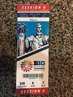 2017 BIG TEN TOURNAMENT TICKET STUB SESSION 6 BASKETBALL WISCONSIN MICHIGAN