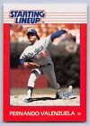 1988   FERNANDO VALENZUELA - Kenner Starting Lineup Card - LOS ANGELES DODGERS