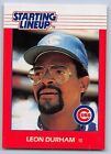 1988  LEON DURHAM - Kenner Starting Lineup Card - CHICAGO CUBS