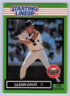 1989  GLENN DAVIS - Kenner Starting Lineup Card - HOUSTON ASTROS