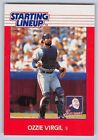 1988  OZZIE VIRGIL - Kenner Starting Lineup Card - ATLANTA BRAVES