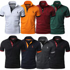 Stylish Mens Slim Fit POLO Shirts Solid Short Sleeve Casual T shirt Tee Tops