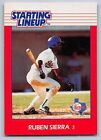 1988  RUBEN SIERRA - Kenner Starting Lineup Card - TEXAS RANGERS