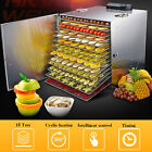 15 Trays Food Dehydrator Commercial Stainless Steel Fruit Meat Dryer Jerky Maker