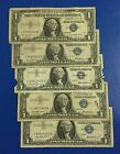 1957-1957B $1 Blue SILVER Certificates *** 5 STARs *** X121 Old US Currency